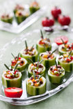 Cucumbers with fresh vegetables stock photos