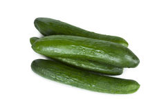 Cucumbers isolated. Fresh delicious cucumbers isolated on a white background Stock Photography