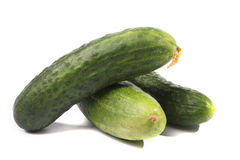 Cucumbers isolated Royalty Free Stock Photo