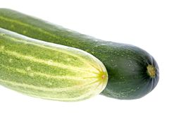 Cucumbers Isolated Stock Photos