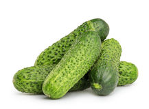 Cucumbers isolated on white Royalty Free Stock Image