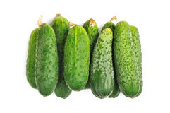 Cucumbers isolated on white Royalty Free Stock Photography