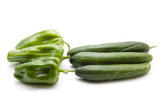 Cucumbers and paprika Royalty Free Stock Images