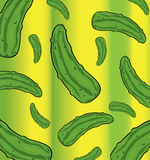 Cucumbers pattern Royalty Free Stock Photography