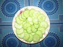 Cucumbers on a plate Stock Photos