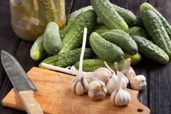 Cucumbers. Preparation of inventories for the winter Stock Photography