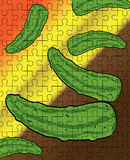 Cucumbers puzzle pattern Stock Photo