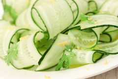 Cucumbers salad Royalty Free Stock Image