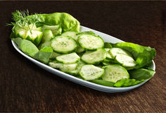 Cucumbers salad Stock Photos