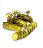 Cucumbers2 salado Imagen de archivo libre de regalías