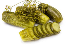 Cucumbers1 salado Imagen de archivo libre de regalías