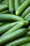 Cucumbers For Sale at Market Stock Photos