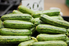 Cucumbers for sale at market Royalty Free Stock Photos