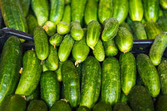 Cucumbers For Sale On Market Place Stock Photos