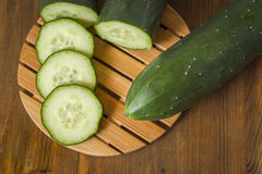 Cucumbers, sliced Royalty Free Stock Image