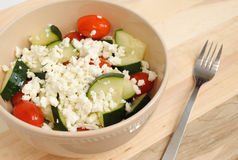 Cucumbers Tomato and Feta Salad Stock Images