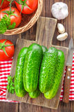 Cucumbers and tomatoes Royalty Free Stock Image