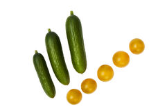 Cucumbers and tomatoes Royalty Free Stock Images