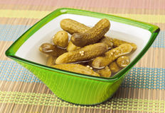 Cucumbers in vinegar Stock Image