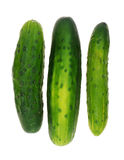 Cucumbers on white Royalty Free Stock Photo