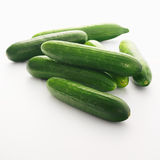 Cucumbers on white background. Cucumbers isolated on white background stock photo