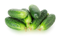 Cucumbers on white background Royalty Free Stock Photography