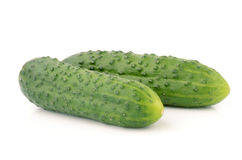 Cucumbers. On a white background Royalty Free Stock Image