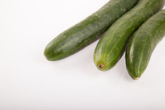 Cucumbers on white background Stock Images