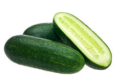 Cucumbers, white background, isolate Stock Images