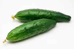 Cucumbers on a white background Royalty Free Stock Photos
