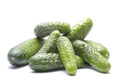 Cucumbers  on white Royalty Free Stock Photos