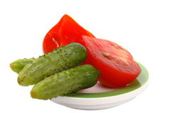 CucumbersAndTomatos Royalty Free Stock Photo
