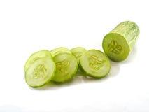 Cucumberslice świeży na białym tle Obrazy Stock