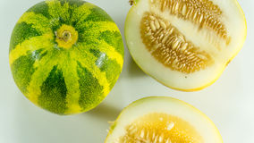 Kekiri/Cucumis melo/ Melon fruit CUCURBITACEAE. Cucumis melo, melon, is a member of the horticulturally diverse gourd family Cucurbitaceae likely native to royalty free stock photography
