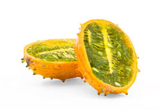 Cucumis metulifera - Kiwano - Horned Melon Royalty Free Stock Photos