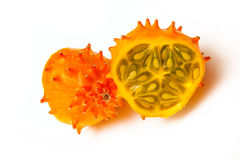 Cucumis metuliferus, rogaty melon lub kiwano, Obraz Stock