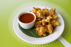 Cucur Udang Prawn Fritters Stock Photo
