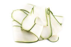 Cucurbita pepo zucchini slices Royalty Free Stock Photo