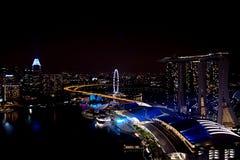 Cud folował - Zaświeca przedstawienie i nawadnia wielki laserowy przedstawienie w Azja Południowo-Wschodnia Obrazy Royalty Free