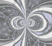 Cud rama fractal w popielatym i białym Zdjęcia Stock