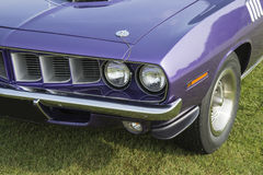 Cuda front end. Picture of vintage plymouth cuda 1971 front end stock photos