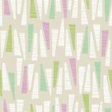 Cudackiego pasteli/lów trójboków Barwionego pociągany ręcznie Textured tła Wektorowy Bezszwowy wzór Abstrakcjonistyczny geometryc ilustracja wektor