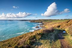 Cuddenpunt in Cornwall Royalty-vrije Stock Foto