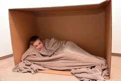 Cuddle in a box Stock Photography