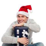 Cuddle a christmas gift Stock Images