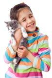 cuddle dziewczyny szczęśliwa figlarka trochę obrazy royalty free