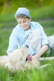 Cuddling dog Royalty Free Stock Images