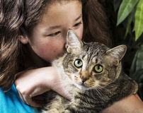 Cuddling Family Pet Royalty Free Stock Images