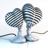 Cuddling mikrofony royalty ilustracja