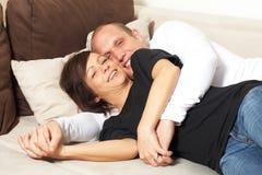 Cuddling time Stock Image